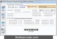 Postal Barcodes Label Maker