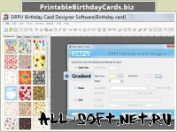 Скриншот к файлу: Printable Birthday Cards Software